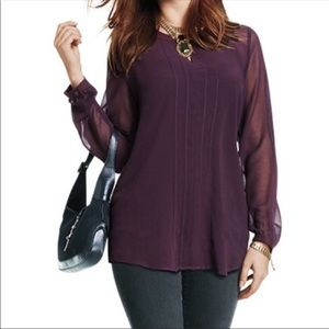 CAbi Port Entice Long Sleeve Top
